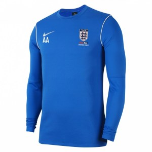 Nike Dri-fit Park 20 Crew Top Royal Blue-White-White