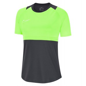 Nike Womens Dri-FIT Academy Pro Short Sleeve Top (W) Anthracite-Green Strike-White