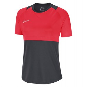 Nike Womens Dri-FIT Academy Pro Short Sleeve Top (W) Anthracite-Bright Crimson-White