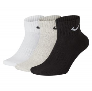 Nike Cushion Training Ankle Socks (3 Pairs) Multi-Color