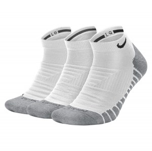 Nike Everyday Max Cushioned Training No-Show Socks (3 Pairs) White-Wolf Grey-Black