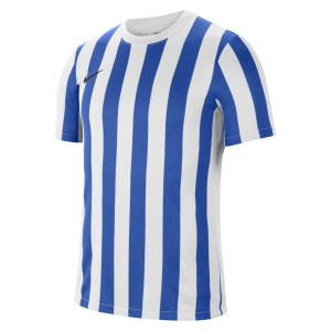 Nike Striped Division IV Short Sleeve Jersey White-Royal Blue-Black