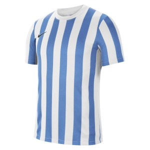 Nike Striped Division IV Short Sleeve Jersey White-University Blue-Black