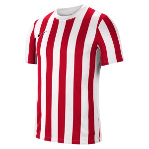 Nike Striped Division IV Short Sleeve Jersey White-University Red-Black