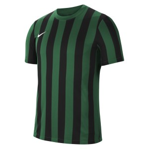 Nike Striped Division IV Short Sleeve Jersey Pine Green-Black-White