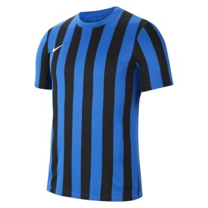 Nike Striped Division IV Short Sleeve Jersey Royal Blue-Black-White