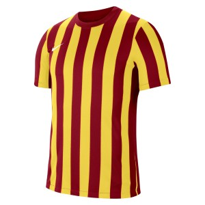 Nike Striped Division IV Short Sleeve Jersey University Red-Tour Yellow-White