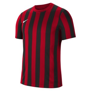Nike Striped Division IV Short Sleeve Jersey University Red-Black-White