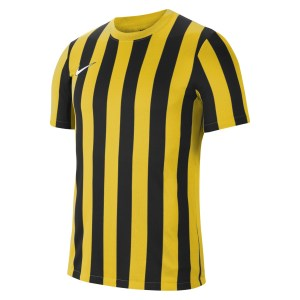 Nike Striped Division IV Short Sleeve Jersey Tour Yellow-Black-White