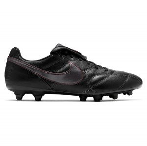 Nike Premier II (FG) Firm-Ground Football Boots Black-Dk Smoke Grey-Chile Red