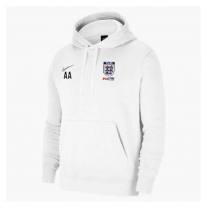 Nike Team Club 20 Fleece Hoodie (M) White-White-Wolf Grey