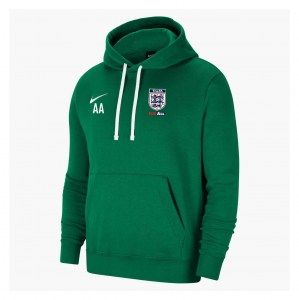 Nike Team Club 20 Fleece Hoodie (M) Pine Green-White-White