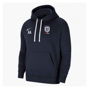 Nike Team Club 20 Fleece Hoodie (M)  Obsidian-White-White
