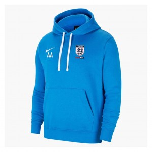 Nike Team Club 20 Fleece Hoodie (M) Royal Blue-White-White