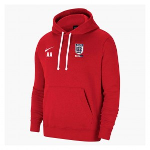 Nike Team Club 20 Fleece Hoodie (M) University Red-White-White