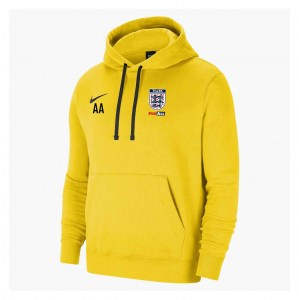 Nike Team Club 20 Fleece Hoodie (M) Tour Yellow-Black-Black