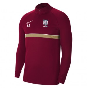 Nike Academy 21 Midlayer (M) Team Red-White-Jersey Gold-White
