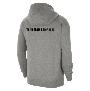 Nike Team Club 20 Fleece Full-Zip Hoodie (M) Dk Grey Heather-Black-Black