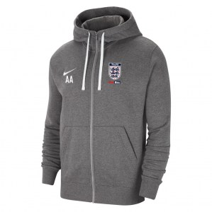 Nike Team Club 20 Fleece Full-Zip Hoodie (M) Charcoal Heathr-White-White