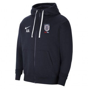 Nike Team Club 20 Fleece Full-Zip Hoodie (M) Obsidian-White-White