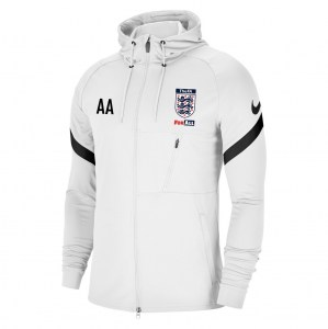 Nike Strike Full-Zip Hooded Jacket (M) White-Black-Black
