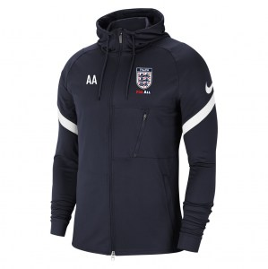 Nike Strike Full-Zip Hooded Jacket (M) Obsidian-White-White