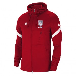 Nike Strike Full-Zip Hooded Jacket (M) University Red-White-White