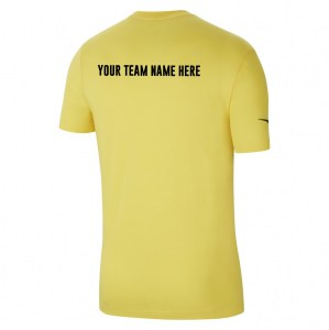 Nike Team Club 20 Cotton T-Shirt (M) Tour Yellow-Black
