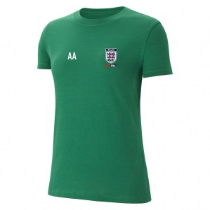 Nike Womens Team Club 20 Cotton T-Shirt (W) Pine Green-White