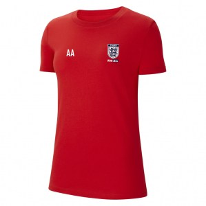 Nike Womens Team Club 20 Cotton T-Shirt (W) University Red-White