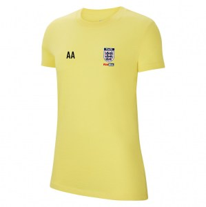 Nike Womens Team Club 20 Cotton T-Shirt (W) Tour Yellow-Black