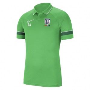 Nike Academy 21 Performance Polo (M) Lt Green Spark-White-Pine Green-White