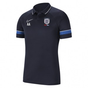 Nike Academy 21 Performance Polo (M) Obsidian-White-Royal Blue-White