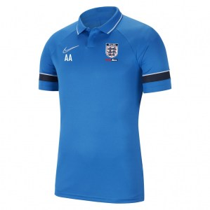 Nike Academy 21 Performance Polo (M) Royal Blue-White-Obsidian-White