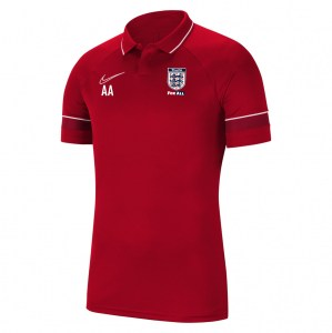 Nike Academy 21 Performance Polo (M) University Red-White-Gym Red-White
