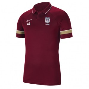 Nike Academy 21 Performance Polo (M) Team Red-White-Jersey Gold-White