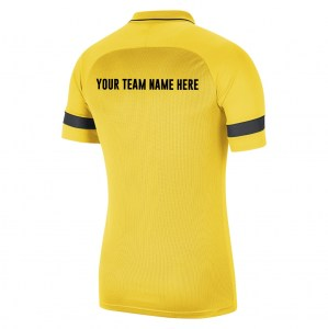 Nike Academy 21 Performance Polo (M) Tour Yellow-Black-Anthracite-Black