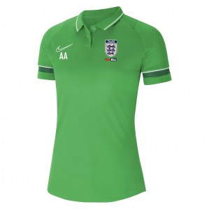 Nike Womens Academy 21 Performance Polo (W) Lt Green Spark-White-Pine Green-White