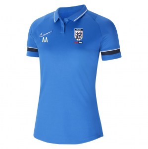 Nike Womens Academy 21 Performance Polo (W) Royal Blue-White-Obsidian-White