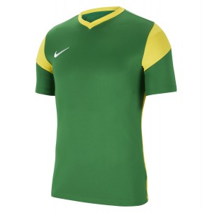 Nike Park Derby III Short-Sleeve Jersey Pine Green-Tour Yellow-Tour Yellow-White