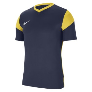 Nike Park Derby III Short-Sleeve Jersey Midnight Navy-Tour Yellow-White