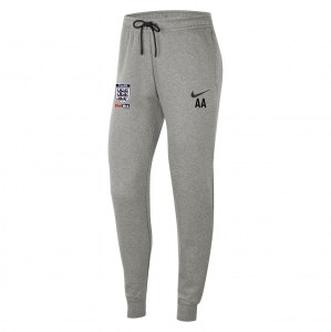 Nike Womens Team Club 20 Fleece Pants (W) Dk Grey Heather-Black-Black