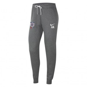 Nike Womens Team Club 20 Fleece Pants (W) Charcoal Heathr-White-White