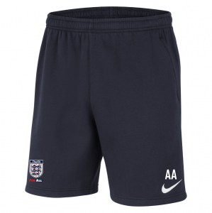 Nike Team Club 20 Fleece Shorts (M) Obsidian-White-White