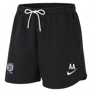 Nike Womens Team Club 20 Fleece Shorts (W) Black-White-White