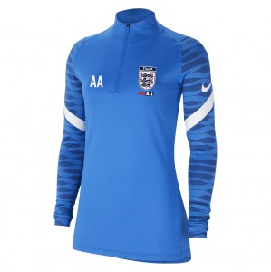 Nike Womens Strike Drill Top (W) Royal Blue-Obsidian-White-White