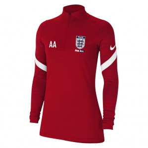 Nike Womens Strike Drill Top (W) University Red-Gym Red-White-White