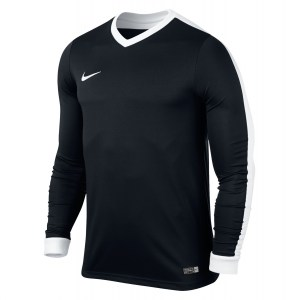 Nike Striker Iv Long Sleeve Football Shirt Black-Black-White-White