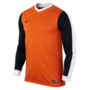 Nike Striker Iv Long Sleeve Football Shirt Safety Orange-Black-White-Black