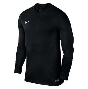 Nike Park VI Long Sleeve Football Shirt Black-White